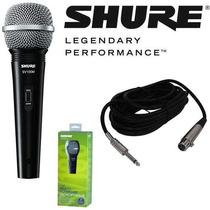 Microfone Shure Sv100 Original Sv 100 + Cabo - Brinde
