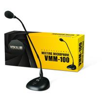 Microfone De Mesa P/ Reunião Vmm100 C/ Cabo - Frete Grátis
