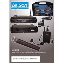 Microfone Sem Fio Duplo Leson, Modelo Ls 802 Ht/hd