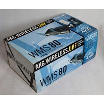 Akg Wms80 Uhf Pt/ Akg C420 Sistema S/fio Head Set