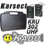 Microfone Duplo Karsect 302 Headset Transmissor Instrumento