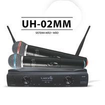 Microfone Sem Fio Duplo Mão Lyco Uh02mm Frete Grátis+brinde