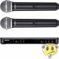 Microfone Shure Sem Fio Duplo Blx288br / Pg58 Loja Credencia