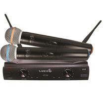 Microfone Sem Fio Duplo De Mão Uhf Lyco Uh02mm Tipo Shure
