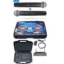 Microfone Sem Fio Duplo Leson Uhf De Mão Ls 802 Ht/ht