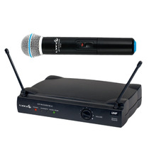 Microfone Sem Fio De Mão Lyco Uhf 01m Wirelles Tipo Shure