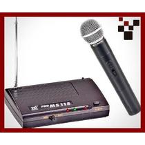 Microfone De Mão Sem Fio Vhf - Tsi Ms115
