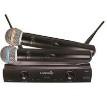 Microfone Sem Fio Lyco Mão Uh02mm Duplo Na Cheiro De Música