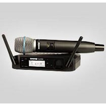 Microfone Sem Fio Shure Bastão Glxd24br Beta87a Loja Física