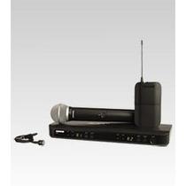 Microfone Sem Fio Shure Duplo Bastão + Lapela Blx1288b Pg185