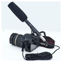 Microfone Shotgun Ht81 Direcional Stereo - Boom Profissional
