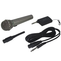 Kit Microfone Karaokê + Adaptador Sem Fio Cabo + Maleta Show