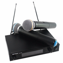 Kit Microfone Sem Fio E Receptor Amplificador Profissional