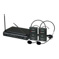 Microfone S/ Fio Karsect Kru302 Headset Duplo Nf E Garantia