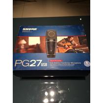 Microfone Shure Pg27 Com Interface Usb. Na Caixa!