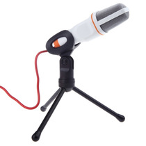 Microfone Com Fio Condensador Sf-666 Estudio Pc Branco
