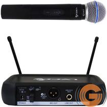 Microfone Sem Fio Lyco Vh 102 De Mão Vhf Goias Musical