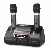 Microfone Duplo Sem Fio Powerpack Wmv-204