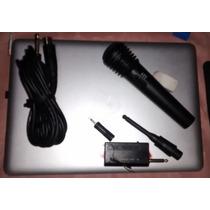 Microfone Dinamico Com E Sem Fio Profissional Wm308 Barato