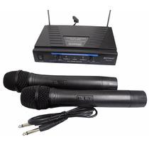 Microfone Sem Fio Duplo Wireless Karaoke Audio Kit