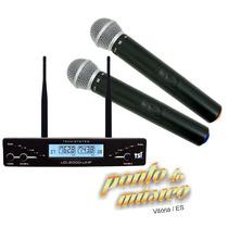 Microfone Duplo S/ Fio Tsi Ud2000 Uhf Garantia + Nf L O J A