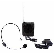 Microfone C Caixa Para Professor Aulas Palestra Amplificado