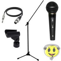 Microfone Leson Sm58 B + Pedestal Rmv - Oferta Kadu Som