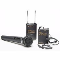Microfone De Mão Azden Wdm-pro Microfone S/ Fio 2 Canal Vhf