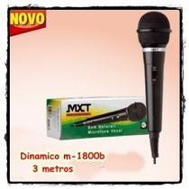 Microfone Para Karaoke Som Narutal Mtx Dinamico M-1800b Novo