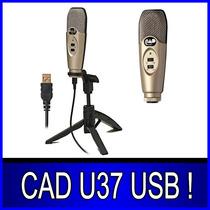 Microfone Condensador Cad U37 Usb Estúdio De Gravação