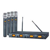 Microfone Staner S/fio Srw48q/ht-48 Quadruplo