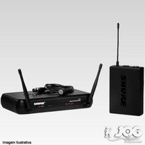 Microfone Shure Transmissor S/fio Lapela Svx14br / Pg185