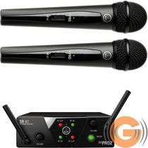 Microfone Sem Fio Duplo Akg Wms40 Mão Mini 2 - Goias Musical