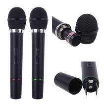 Microfone Duplo Sem Com Receptor Fio Karaoke Festas Eventos