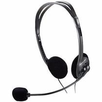 Fone De Ouvido Com Microfone Headeset Ph002 Preto Multilase