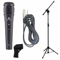Microfone Para Karaoke Com Cabo Pedestal E Cahimbo Oferta!