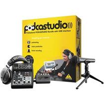 Kit Estúdio - Podcastudio Usb - Behringer