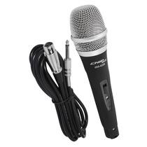 Microfone Profissional Com Fio + Cabo Tipo Shure Sm 57 Sm 58