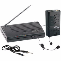 Microfone Sem Fio Headset Vhf855, Alcance 50m - Skp