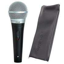Microfone De Mão C/ Fio Shure Pg48 Profissional C/ Estojo