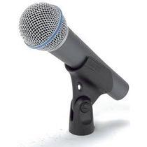 ** Microfone Supercardióide Shure Beta 58a Made In México
