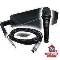 Microfone Profissional Dinâmico. P/ Palco Voz Estúdio Vocal