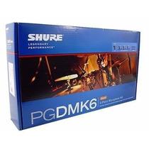 Shure Kit Microfone De Bateria Pgdmk6 Novo Lacrado Original
