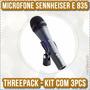 Microfone Sennheiser E835 Kit C/3 Original Na Caixa Lacrado