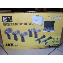 Kit Microfone P/bateria Dx-7 C/7peças Skp+malet Frete Gratis