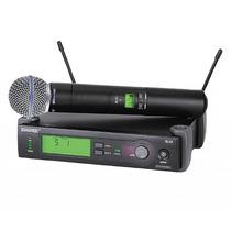 Microfone Shure Sem Fio Slx24 Beta 58 Americano Usa