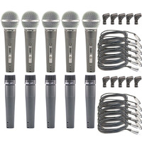 Kit 5 Microfones Arcano A-57 Ou A-58 Igual Shure Sm57 Sm58