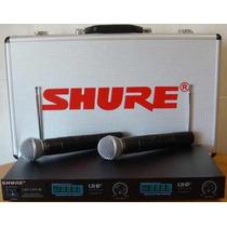 Microfone Sem Fio Shure Lx88 Lll Duplo Com Case Aluminio