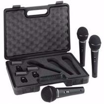 Xm1800s Kit Behringer C/ 3 Microfone + Maleta Xm1800 Xm 1800