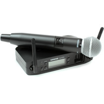 Microfone Sem Fio Shure Glx-d Bastão Digital - Glxd/sm58